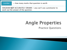 Angle Properties - maths practice questions