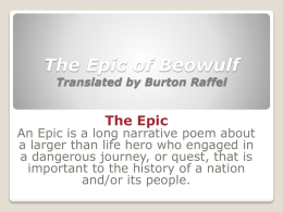 The Epic of Beowulf - Mrs-Wilmarths-Wiki