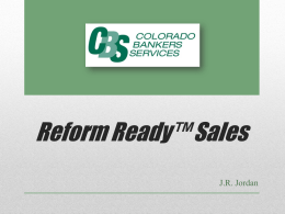 the timber ridge series - Colorado Bankers Services