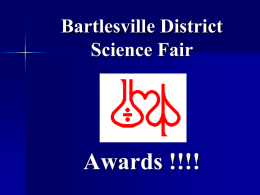 Junior Behavioral & Social Sciences - Bartlesville District Science Fair