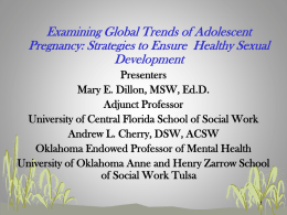 Examining Global Trends of Adolescent Pregnancy