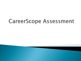 CareerScope Assessment