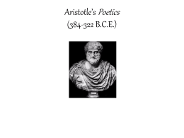 Aristotle*s Poetics (384