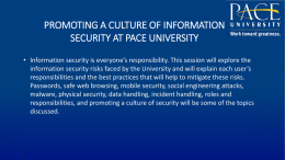 Promoting a culture of Information Security at Pace University