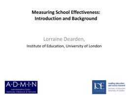 Measuring school effectiveness