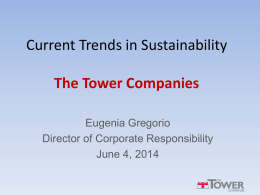 Eugenia Gregorio, Director of Coprorate Responsibility - The