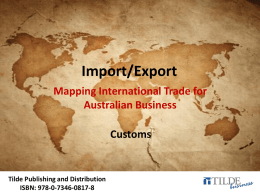 Tb-ImportExport-PPT-Chapter11 - Tilde Publishing and Distribution