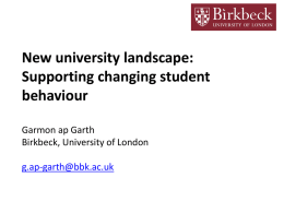 Changing Student behaviour