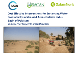 12. Cost Effective Interventions for Enhancing Water Productivity in