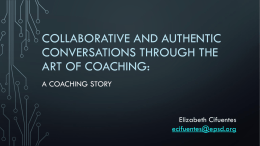 Collaborative and Authentic Conversations through the art of