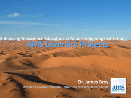 The AMS Education Program - Geological Society of America