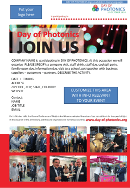 Contact - Day of photonics