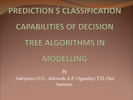 Predictions an classification capabilities Decision - ISKO