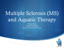 and Aquatic Therapy - Temple University Sites