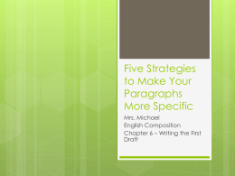 Five Strategies to Make Your Paragraphs More Specific
