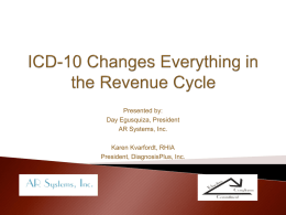 Preparing for ICD-10