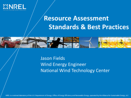 Resource Assessment Standards & Best Practices