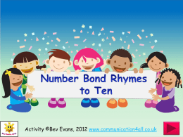 Number Bond Rhymes to Ten