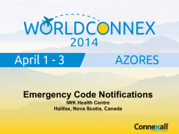 Emergency Code Notifications - IWK Health Centre