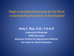 A survey of demographic traits and assistive device use in a blind