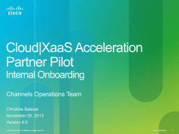 SaaS Q1FY14 Channels - Internal Onboarding