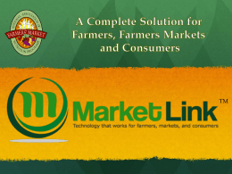 ML6-Farmer-Presentation - NAFMNP Farmer`s Market Association