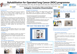 Rehabilitation for operated lung cancer (ROC) programme