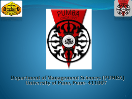 Department of Management Sciences (PUMBA)