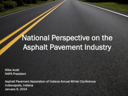 Mike Acott - Asphalt Pavement Association of Indiana
