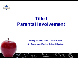 NCLB & Title I: What Parents Need to Know