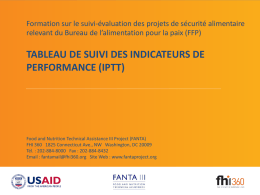 tableau de suivi des indicateurs de performance (iptt)