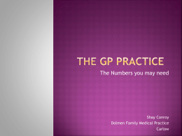 GP Practice Management by numbers