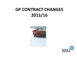 GP CONTRACT CHANGES