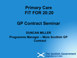 GP Contract Seminar Presentation