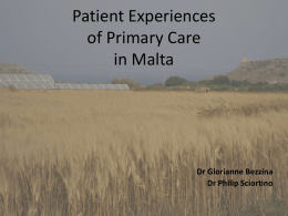 Experiences with the GP - European forum for primary care
