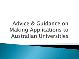 How To Make An Application To Australian Universities