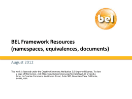 BEL Framework Resources (namespaces