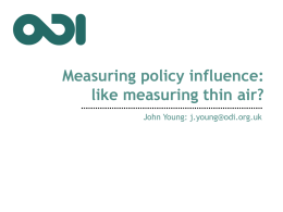 Measuring policy influence