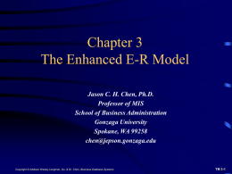 Enhanced E-R Model and Business Rules