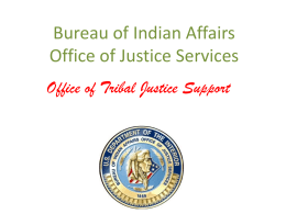 Office of Tribal Justice Support