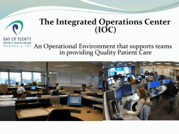 BOP Integrated Ops Centre
