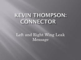 Kevin Thompson: Connector