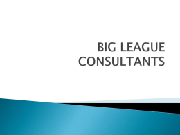BIG LEAGUE CONSULTANTS