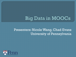 Big Data in MOOC