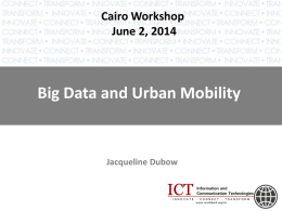 Big Data and Urban Mobility