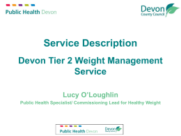 Weight Management Service Lots