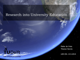 research at TU Delft - Centre for Education and Learning