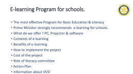 E-learning Program for schools. - Rotary T-E-A-C-H