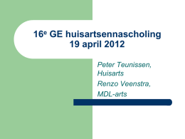 16e GE huisartsennascholing 19 april 2012