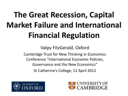 The Great Recession, Capital Market Failure and International